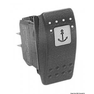 Interruttore ON-OFF-(ON) singolo polo 2 LED 12 V 14.192.56 12,95€