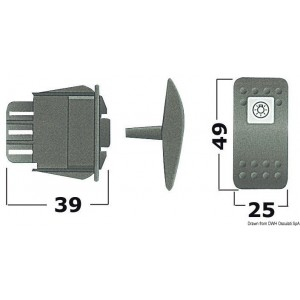 Interruttore ON-OFF LED rosso 14.192.61 12,95€